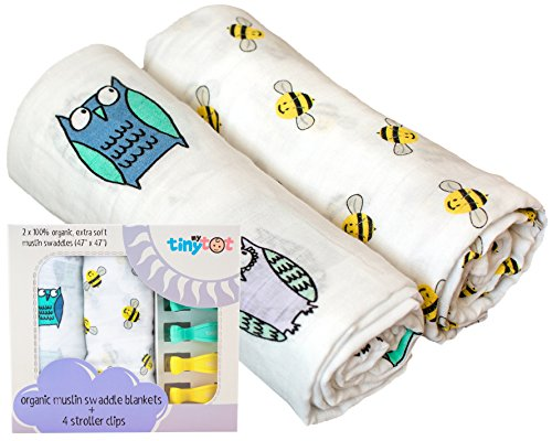 *Sale* Baby Swaddle Blankets 100/% Organic Cotton Muslin Unisex Designs Large Size