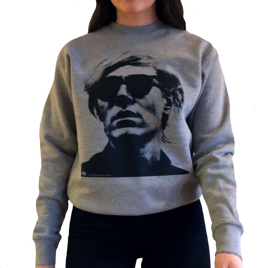Warhol Grey Crewneck Sweater