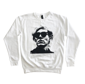 Warhol White Crewneck Sweater