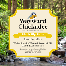Load image into Gallery viewer, Natural Black Fly Repellent - Wayward Chickadee, handcrafted in Maine
