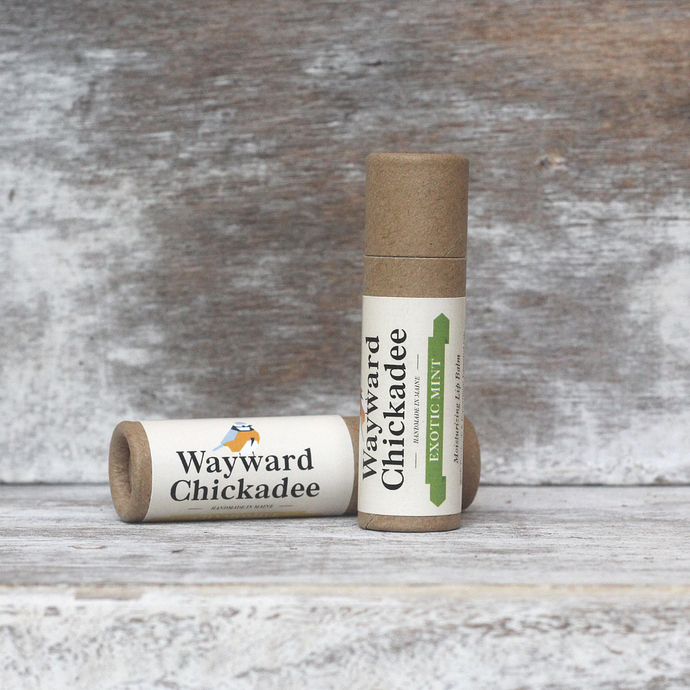 Wholesale Exotic Mint Lip Balm (Retail $4.50) - Wayward Chickadee, handcrafted in Maine