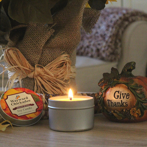Autumn Breeze Natural Soy Candle - Wayward Chickadee, handcrafted in Maine
