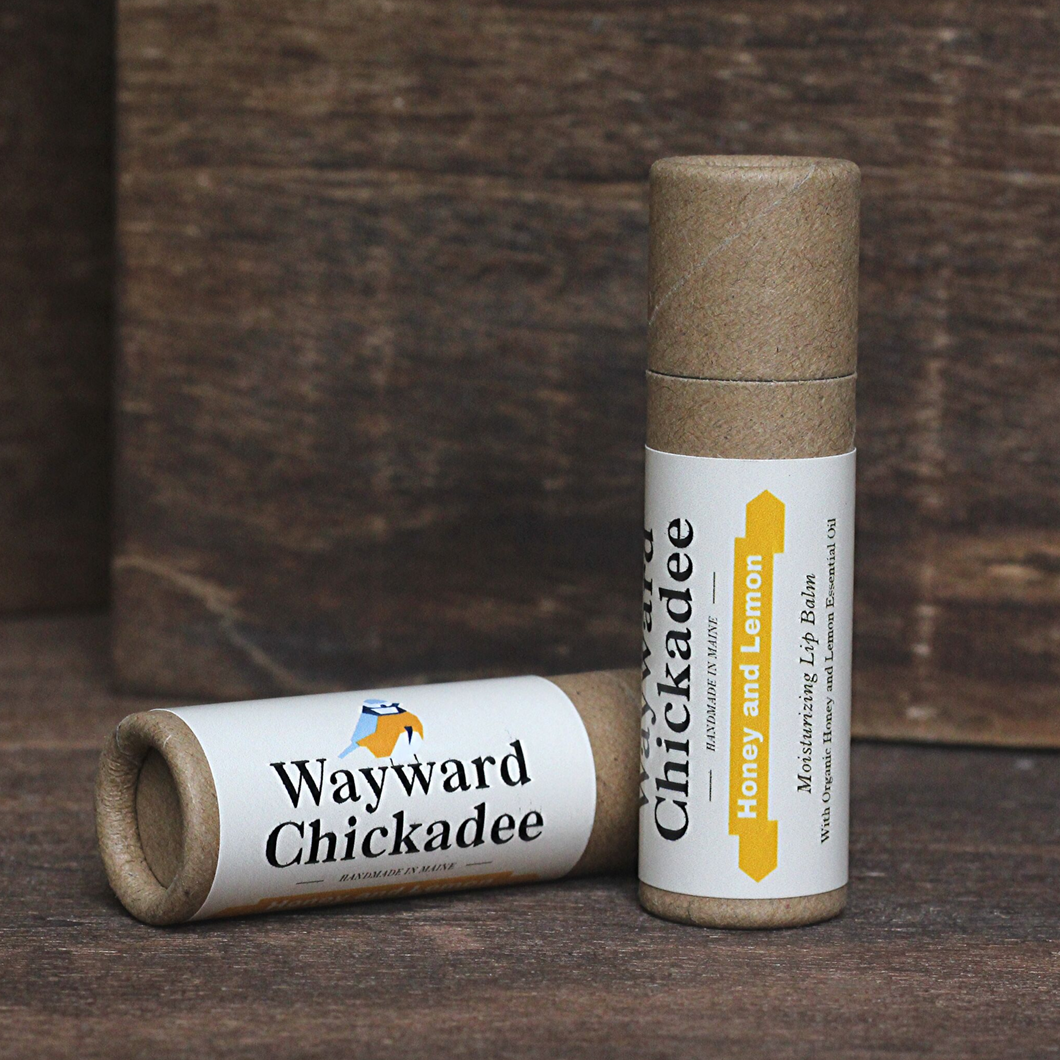 Wholesale Honey and Lemon Lip Balm (Retail $4.50) - Wayward Chickadee, handcrafted in Maine