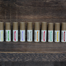 Load image into Gallery viewer, Wholesale Cocoa and Orange Lip Balm (Retail $4.50) - Wayward Chickadee, handcrafted in Maine