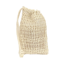 Load image into Gallery viewer, Natural Sisal Soap Saver Pouch - Wayward Chickadee, handcrafted in Maine