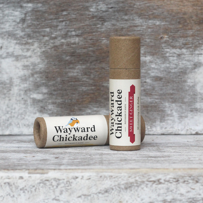Wholesale Sweet Ginger Lip Balm (Retail $4.50) - Wayward Chickadee, handcrafted in Maine