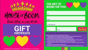 House of Boom Gift Vouchers are here!
