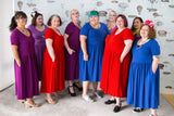 Fat babes in cotton plus-size dresses with pockets