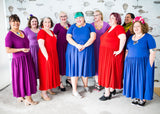 Many babes in plus-size cotton dresses with pockets