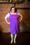 fat babes in purple plus size pinafores