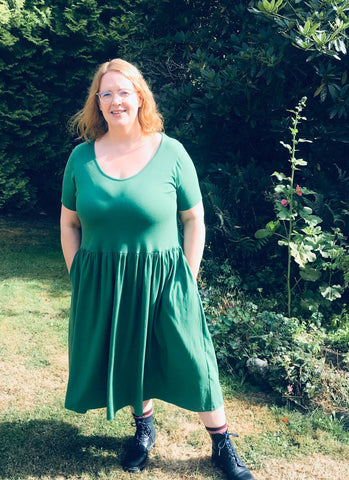 DEMELZA dress - forest green