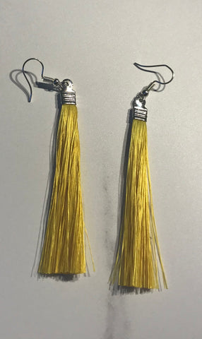 Muka fibre earrings - Yellow