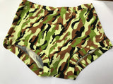 camo print full brief cotton underpants