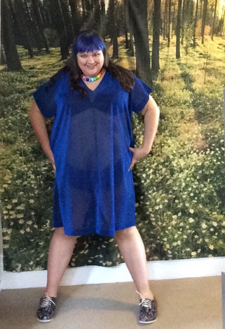Penny Royale dress - blue lurex