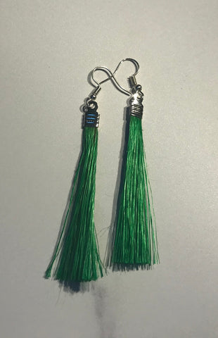 Muka fibre earrings - Green