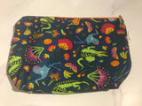 Zip purse - crocodiles print