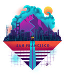 San Francisco Retro - Short-Sleeve Unisex T-Shirt