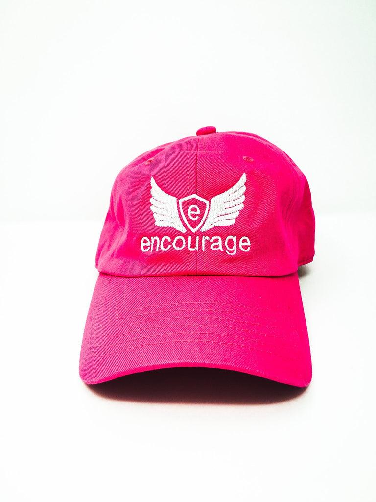 Encourage Logo Hat Relaxed Fit Strapback Cap, One Size