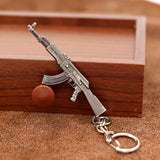 GUN KEYCHAIN PENDANT: AK-47, AR-15, AND MORE -10 STYLES