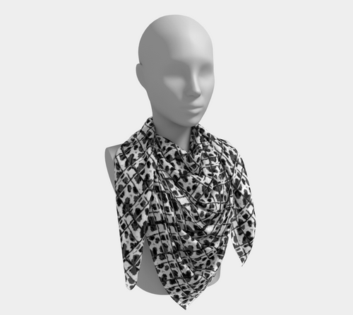 Black & White Leopard Print Scarves
