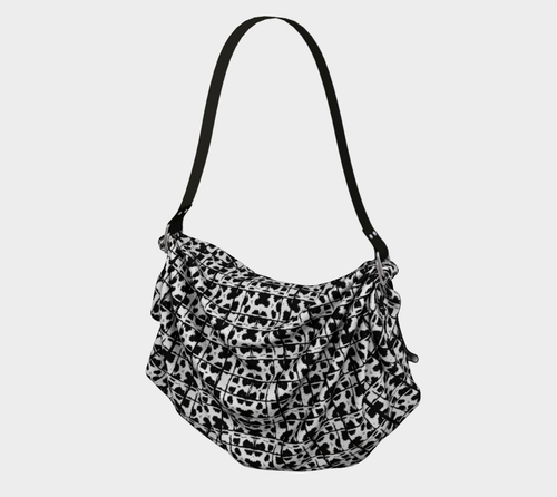 graphic leopard scarf bag