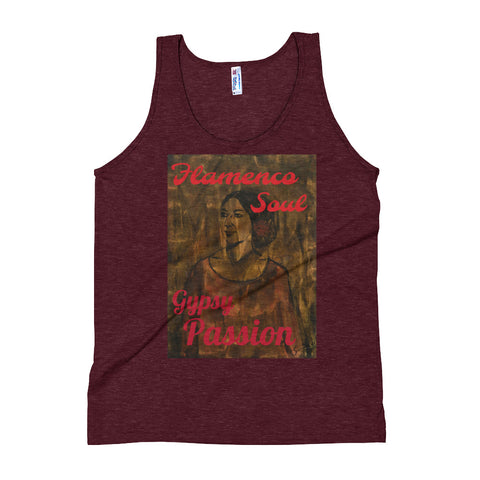 Vintage Style Tank Top perfect for the summer. It's made of an ultra-soft tri-blend fabric.