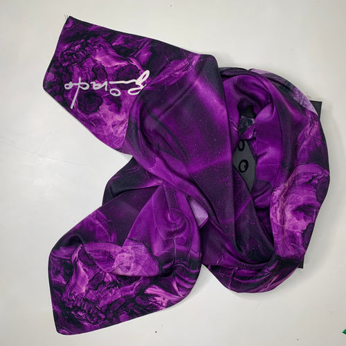 Silk Square- Four Skulls Violet