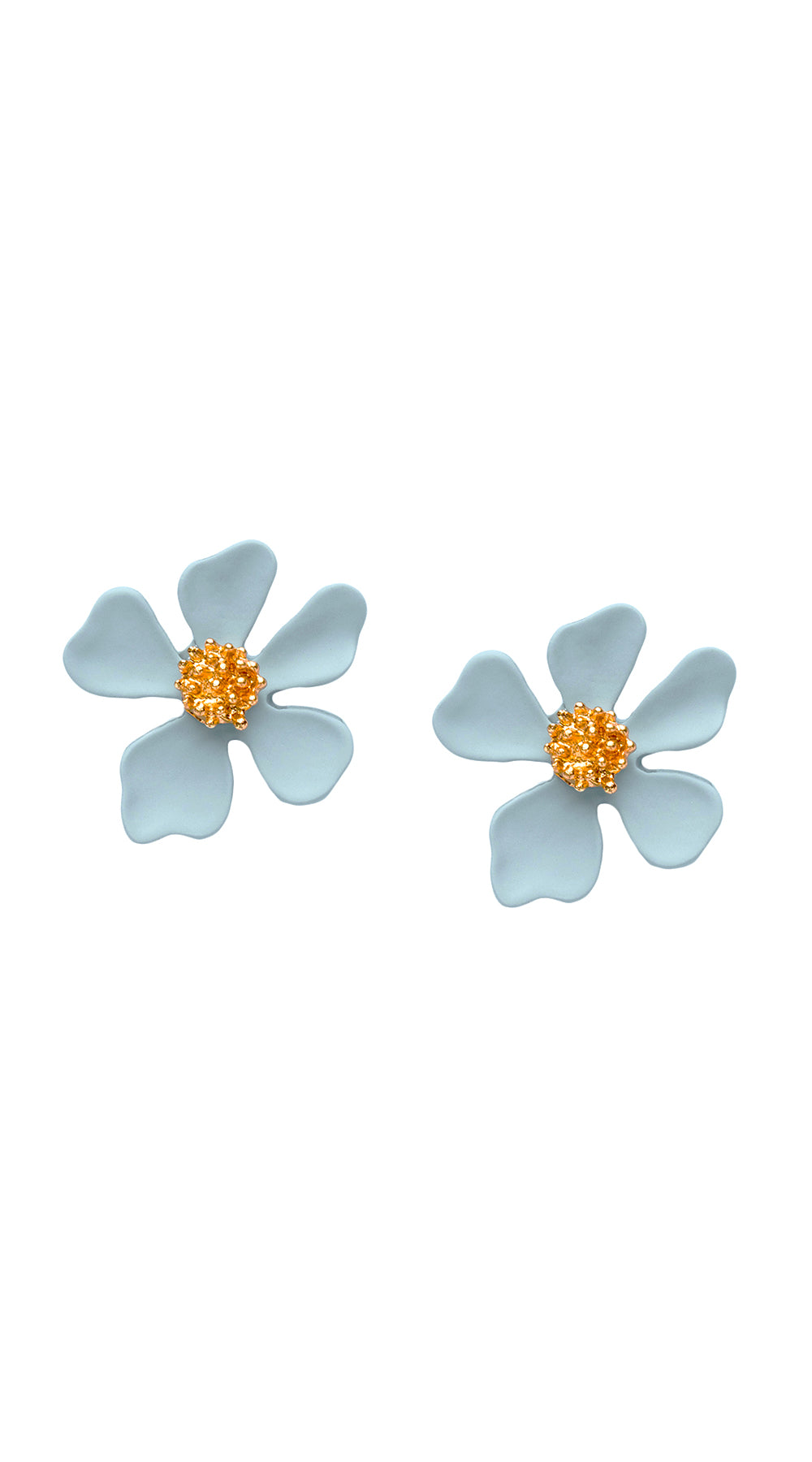 Dogwood Studs - Light Blue