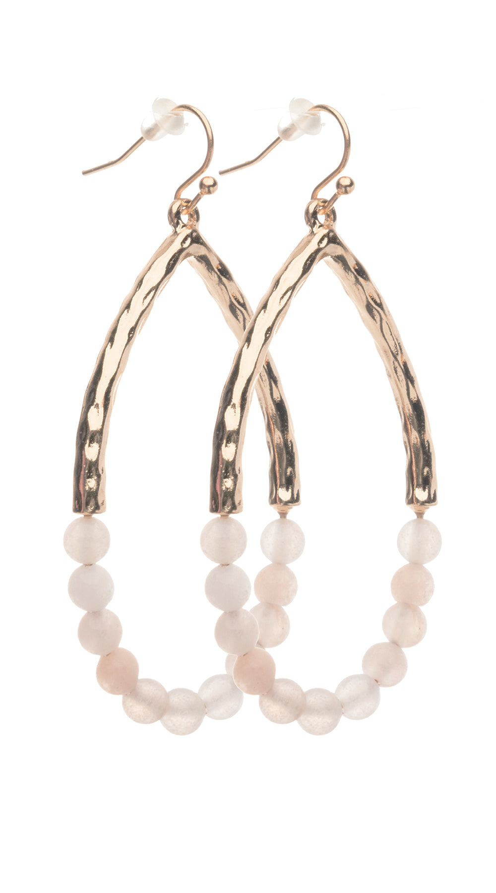 Beaded Wishbone - Blush