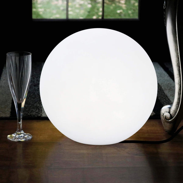Lampe de Table Dimmable, Luminaire Chevet Moderne LED E27, 30cm, Blanc