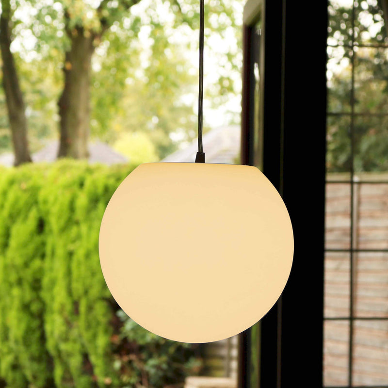 Lampe Plafond Suspension Moderne, Sphère 30cm, LED E27 Blanc Chaud