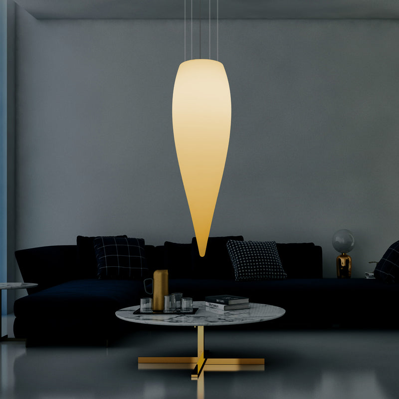 Plafonnier à LED goutte d'eau, lampe suspendue de conception unique, 1200 mm, E27, blanc chaud