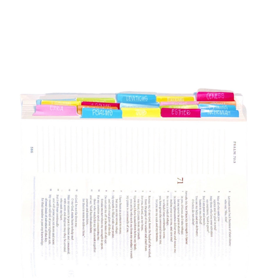 All She Wrote Notes Solid Bible Tabs - Kingfolk Co
