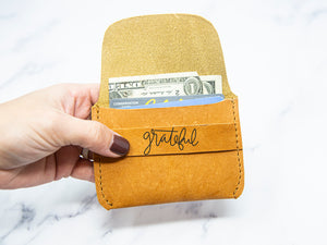 Grateful Leather Wallet - Kingfolk Co