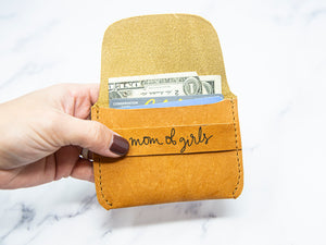 Mom of Girls Leather Wallet - Kingfolk Co