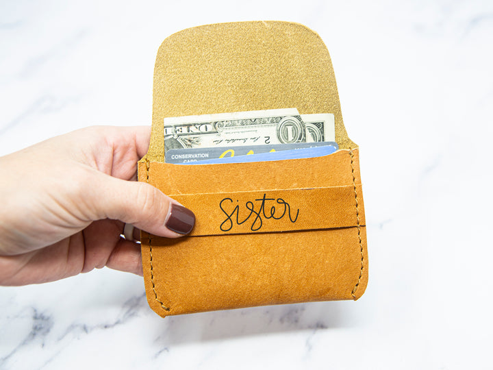 Sister Leather Wallet - Kingfolk Co