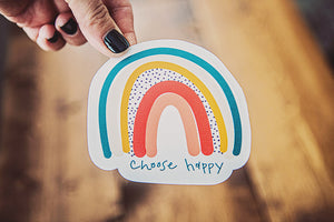 Choose Happy Rainbow Sticker - Kingfolk Co