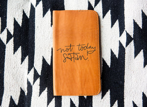 Not Today Satan Tan Leather Notebook - Kingfolk Co