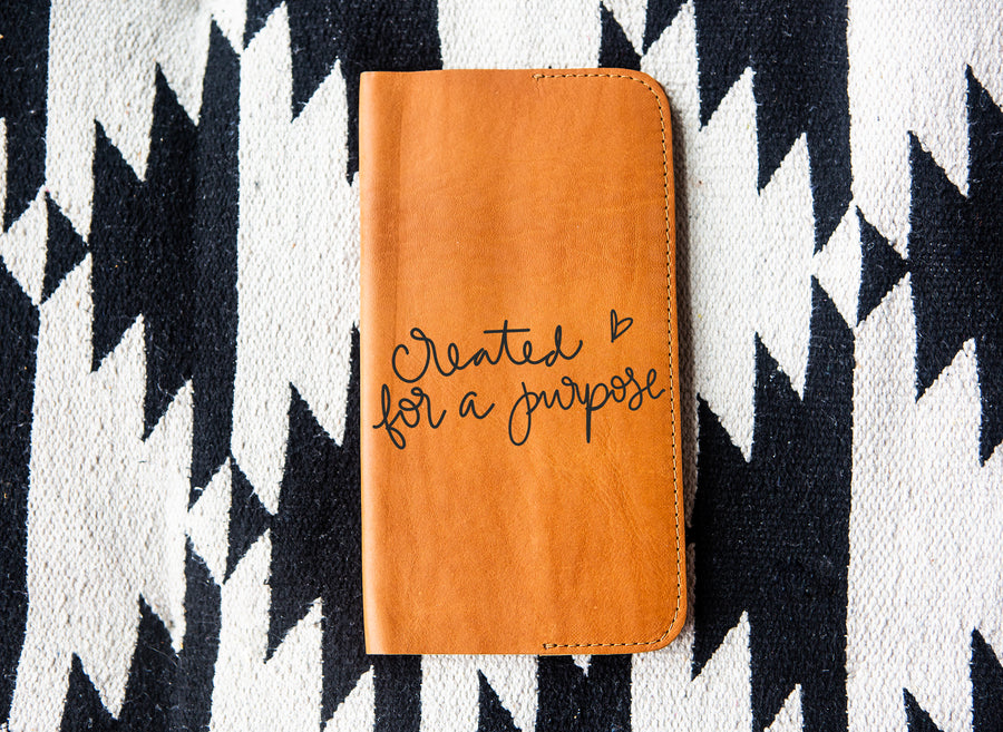 Created for a Purpose Tan Leather Notebook - Kingfolk Co