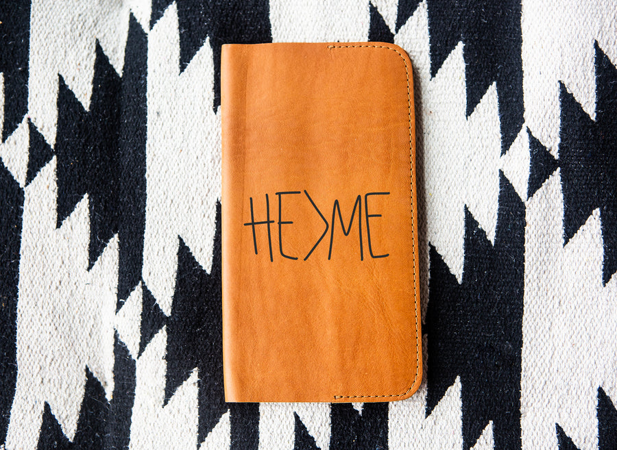 He > Me Leather Notebook - Kingfolk Co