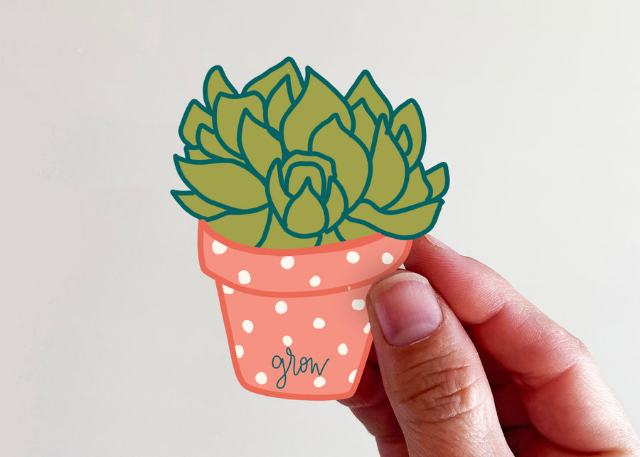 Grow Succulent Sticker - Kingfolk Co