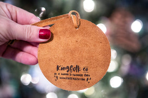 We Survived 2020 Leather Ornament - Kingfolk Co