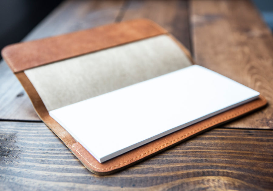 Boss Tan Leather Notebook - Kingfolk Co