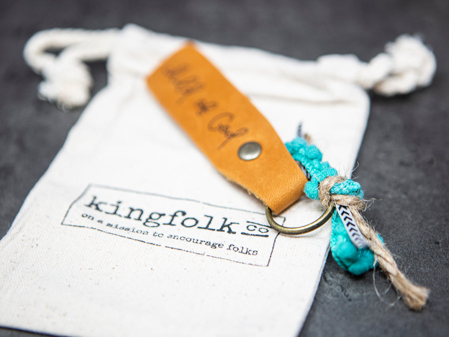 Teacher leather keychain - Kingfolk Co