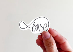 Infinity Love Sticker - Kingfolk Co