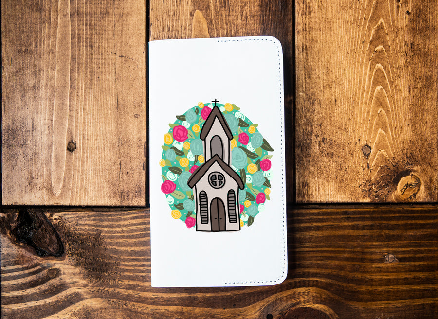 Floral Church Leather Notebook - Kingfolk Co