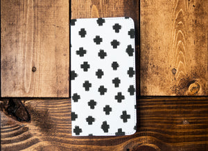 Black Crosses Leather Notebook - Kingfolk Co