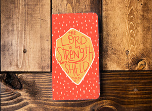 The Lord is my Strength and Shield Leather Notebook - Kingfolk Co