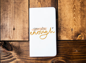 You Are Enough Leather Notebook - Kingfolk Co