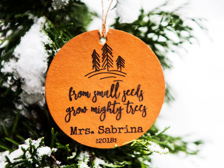 From Small Seeds Grow Mighty Trees Christmas Ornament - Kingfolk Co